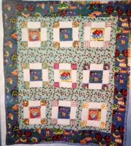 """Growing Things""  My first original quilt since 1977. For a niece."