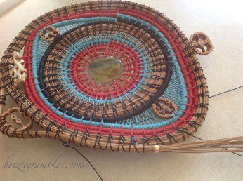 Indian Basketry project. Getting there slowly but almost surely.